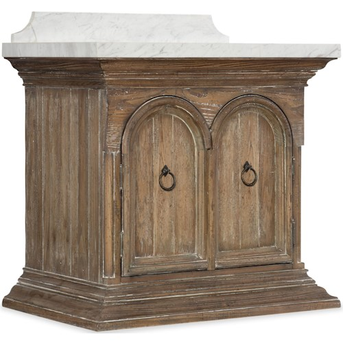 Hooker Furniture Boheme Traditional Durbury Vanity with Marble Top