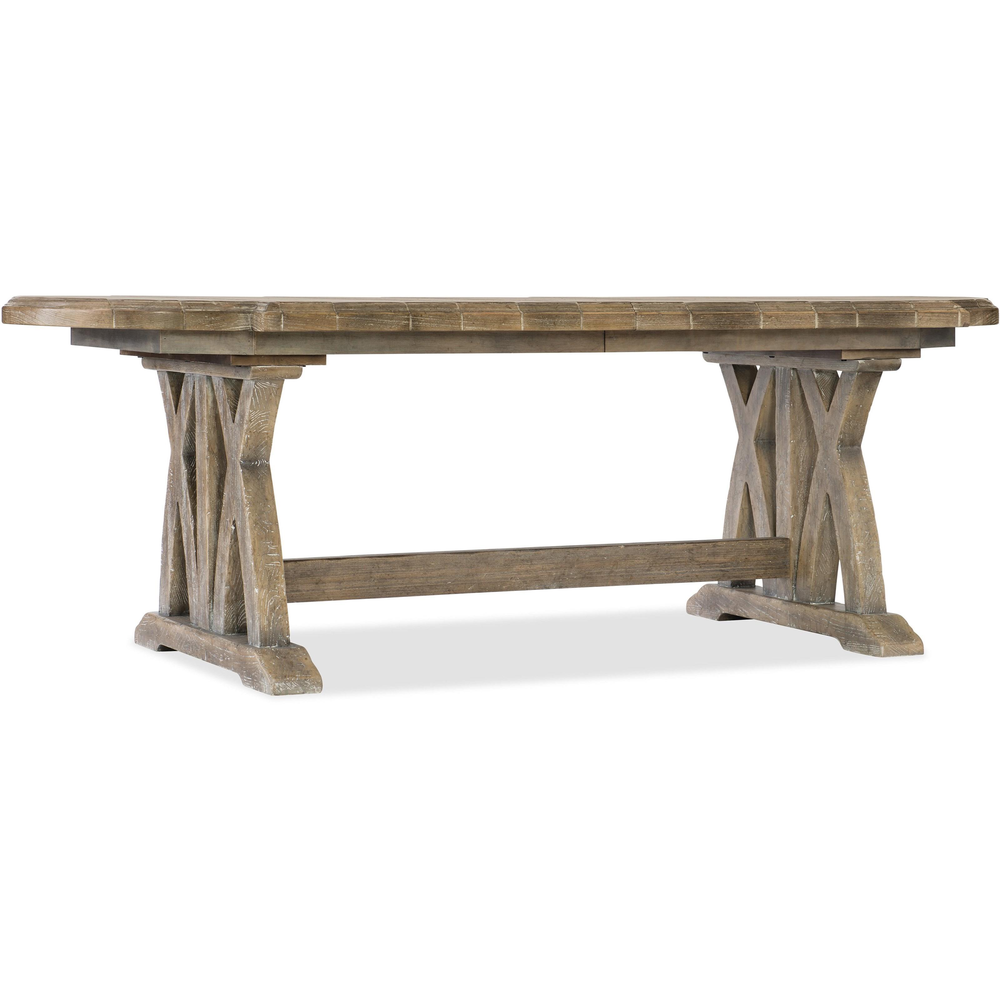 "Colibri 88"" Trestle Dining Table w/1-20in Leaf"