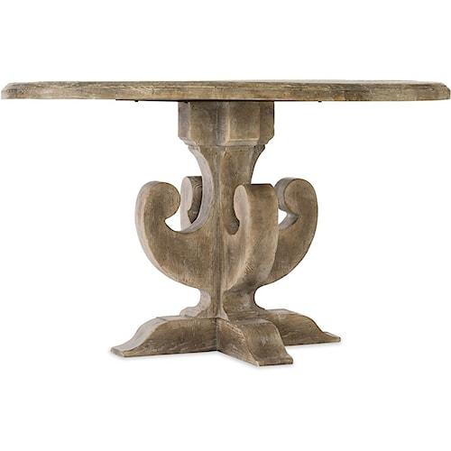 Hooker Furniture Boheme Adjustable Round Pedestal Dining Table
