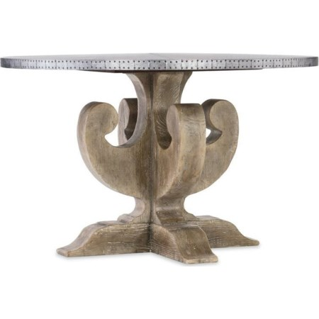 Adjustable Metal Top Dining Table