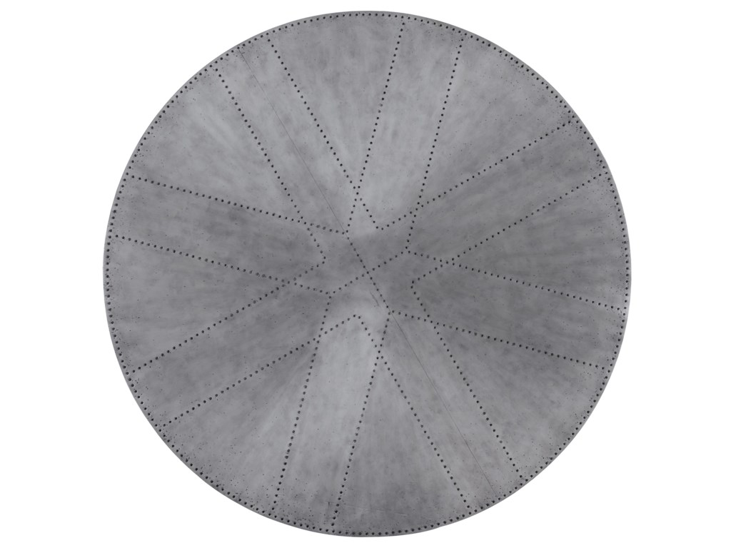 Hooker Furniture BohemeAscension 48in Zinc Round Dining Table Top