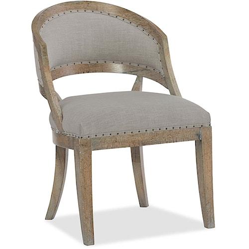 Hooker Furniture Boheme Upholstered Barrel Back Side Chair