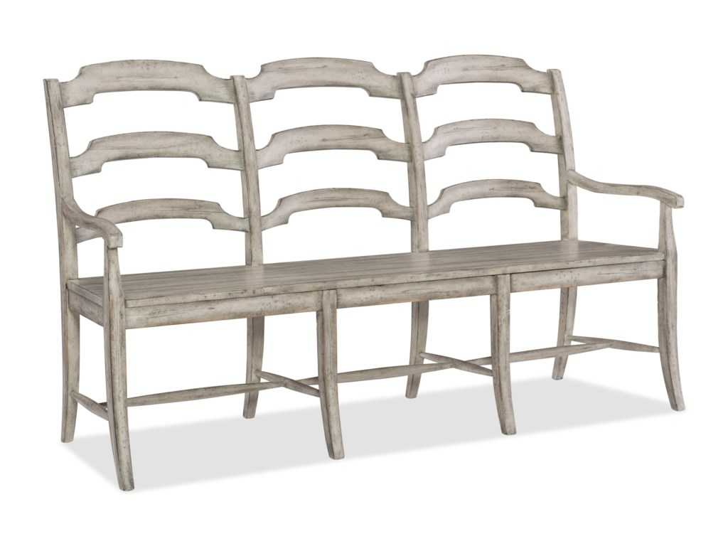 Hooker Furniture BohemeDu Monde Ladderback Dining Bench
