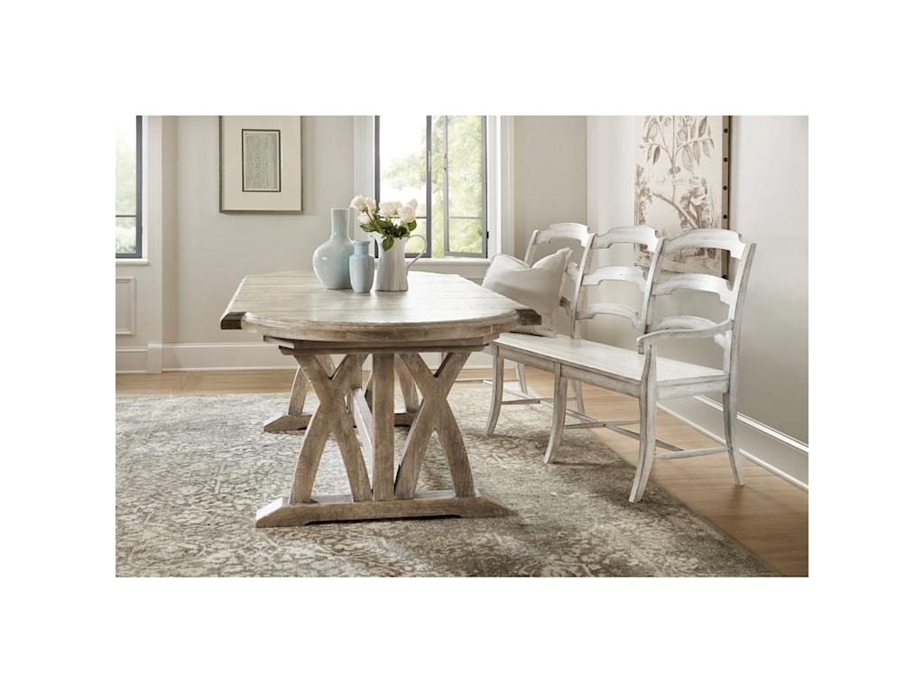 Hooker Furniture BohemeDu Monde Ladderback Dining Bench