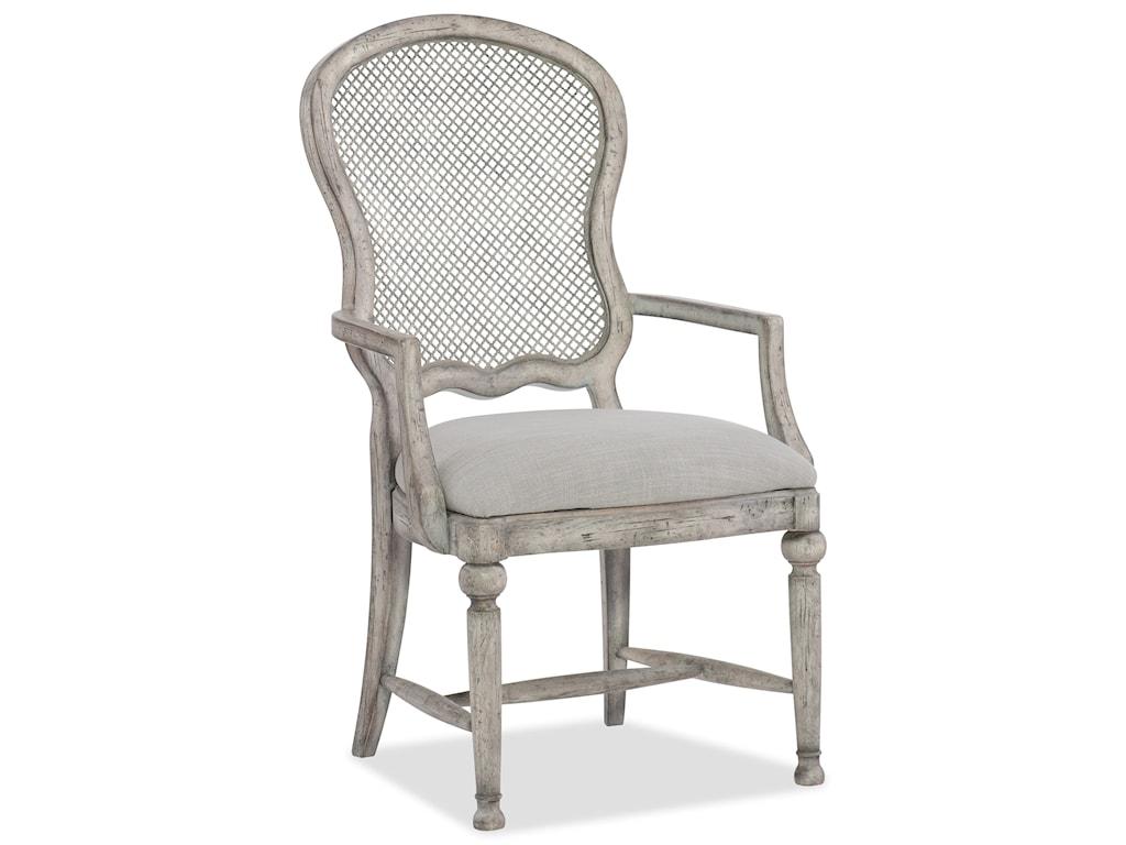 Hooker Furniture BohemeGaston Metal Back Arm Chair