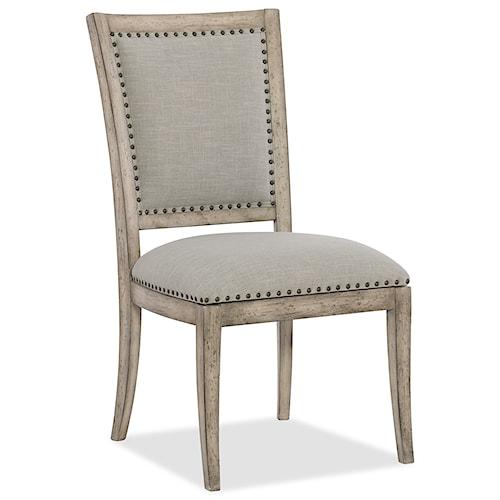 Hooker Furniture Boheme Vitton Upholstered Side Chair with Nailhead Trim