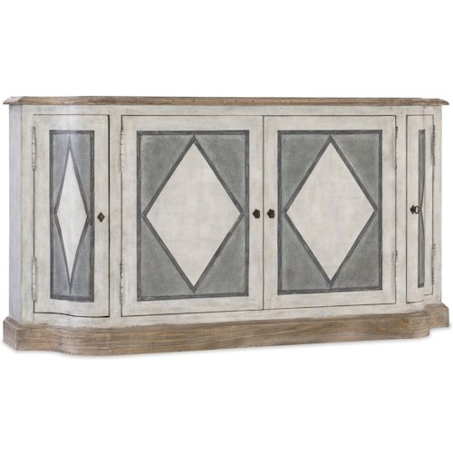 Hooker Furniture Boheme 4 Door Dining Server With Diamond Pattern