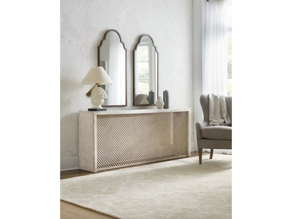 Hooker Furniture BohemeBelvue Linen Wrapped Console