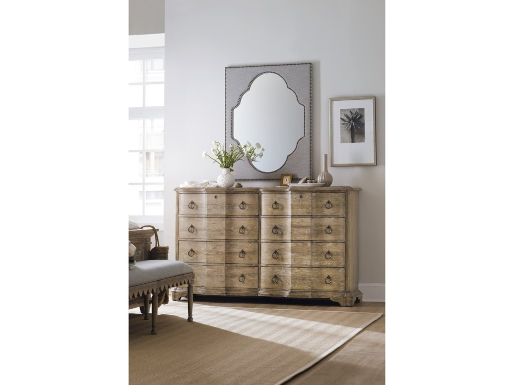 Hooker Furniture BohemeNourmand Linen Wrapped Mirror