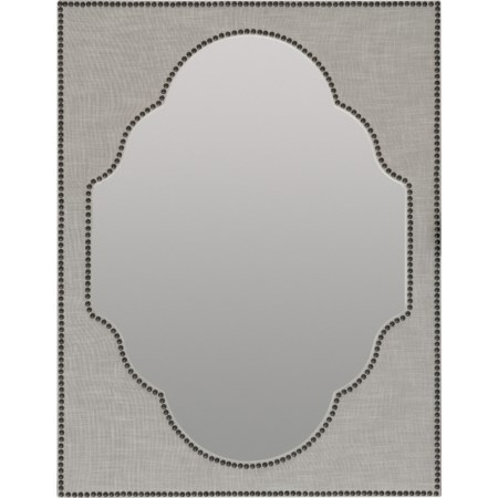 Nourmand Linen Wrapped Mirror