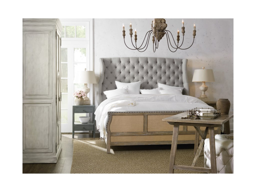 Hooker Furniture BohemeBon Vivant De-Constructed King Uph Bed
