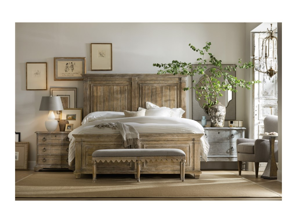 Hooker Furniture BohemeLaurier Queen Panel Bed