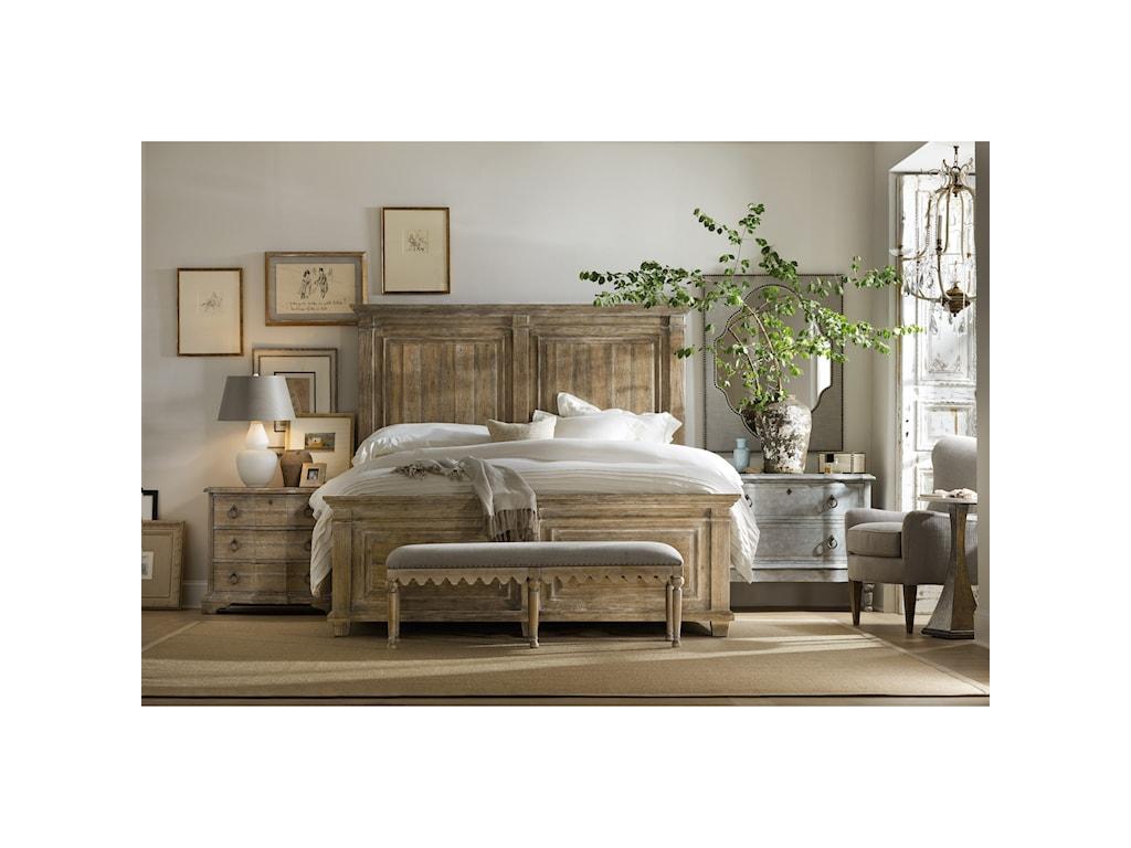 Hooker Furniture BohemeLaurier King Panel Bed