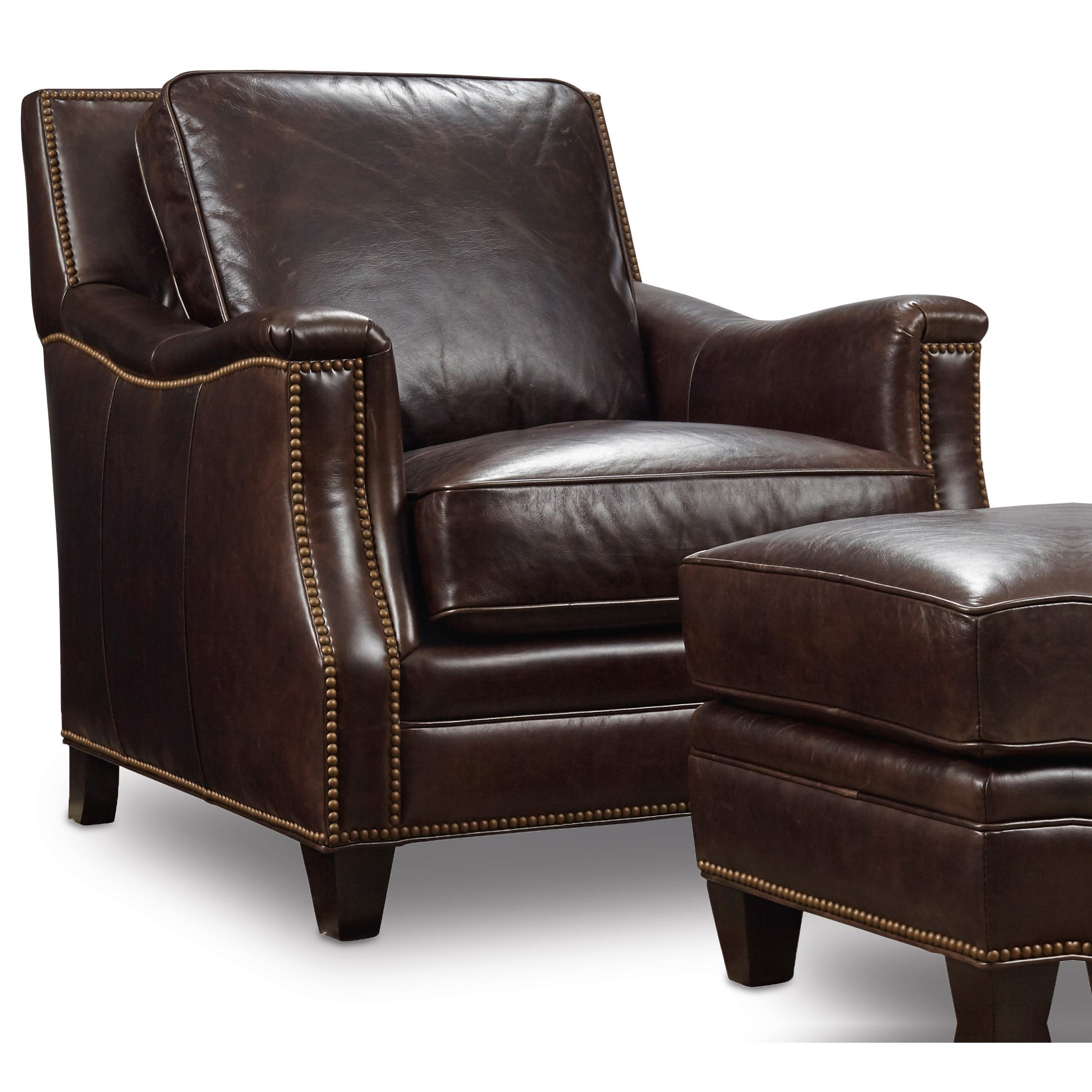 Superbe Hooker Furniture BradshawStationary Leather Chair ...