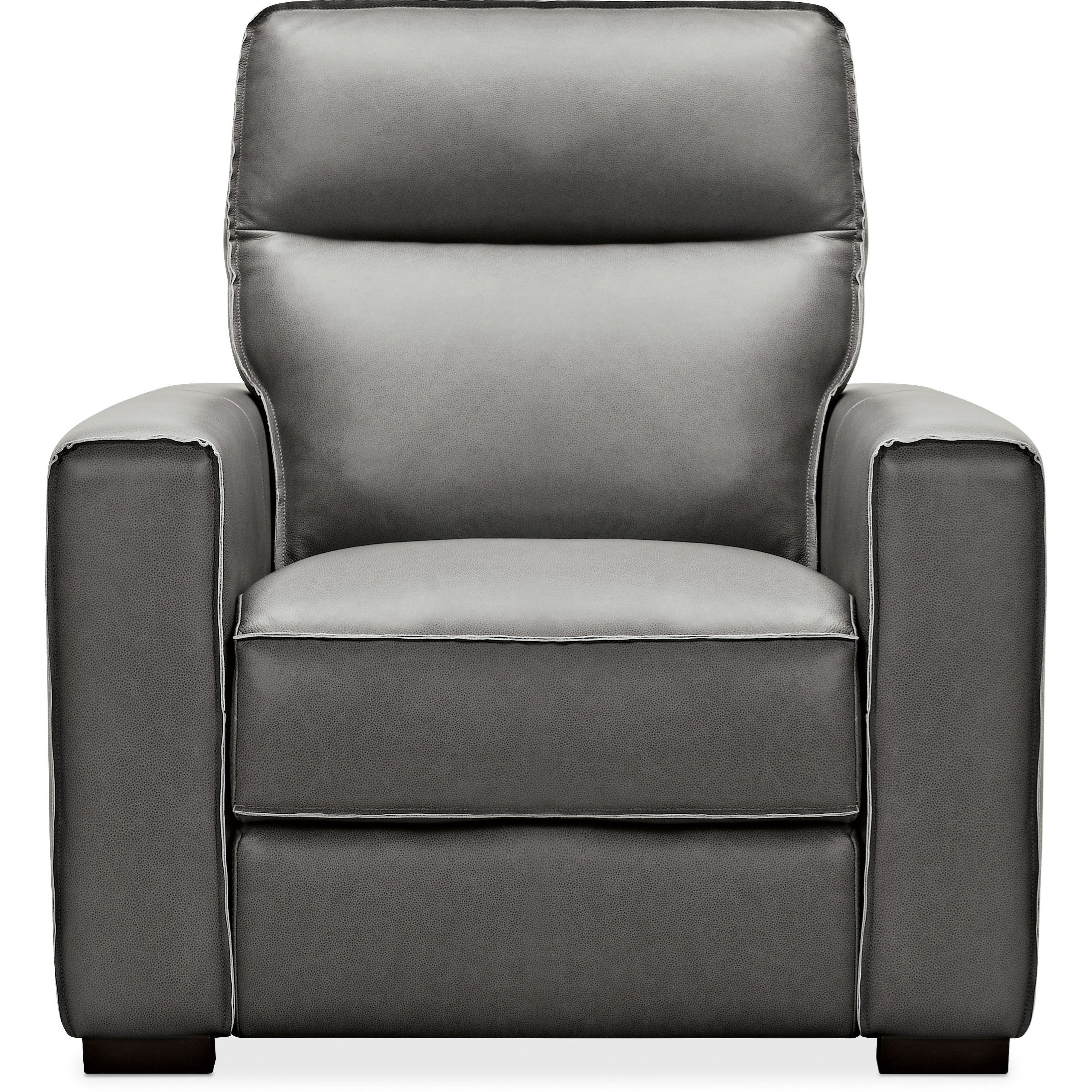 Contemporary Leather Recliner with Power Headrest