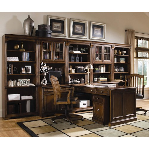 Hooker Furniture Brookhaven Office Wall Unit