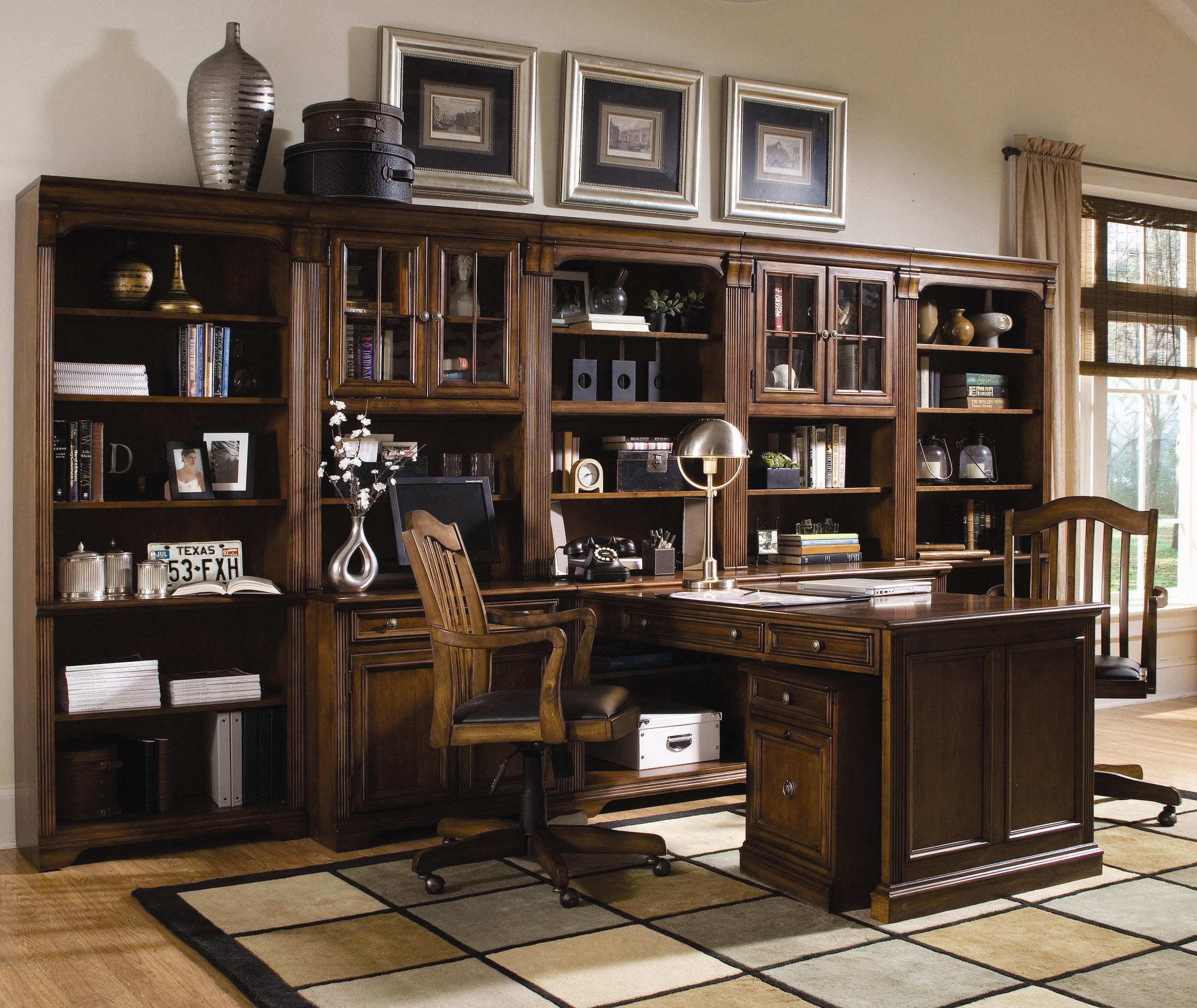 Amazing Hooker Furniture Brookhaven Office Wall Unit   Dunk U0026 Bright Furniture    L Shape Desk