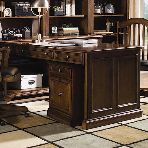 Hooker Furniture Brookhaven Three Drawer Peninsula Desk