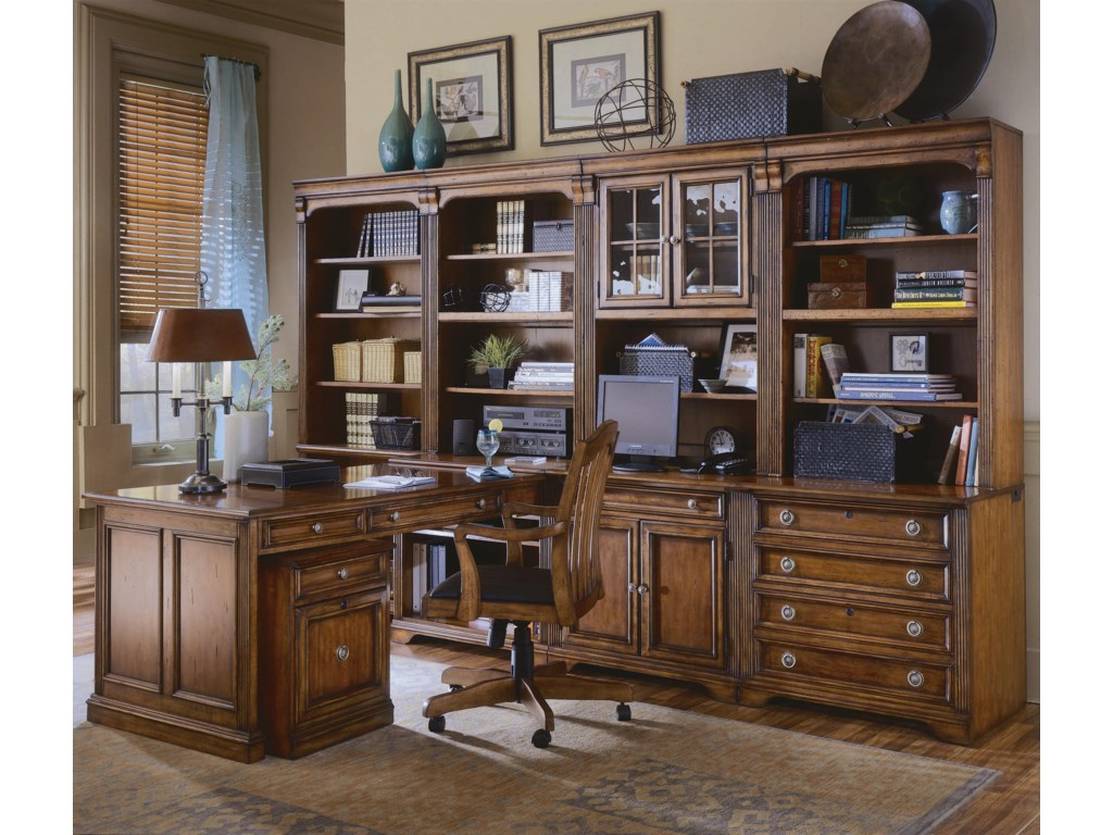 Shown with Computer Desk, Hutch, Open Hutch, Right Bookcase, Left Bookcase, and Tilt Swivel Chair