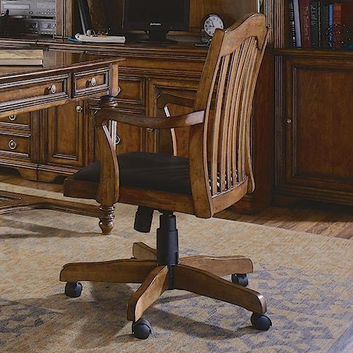 Hooker Furniture Brookhaven Tilt Swivel Desk Chair