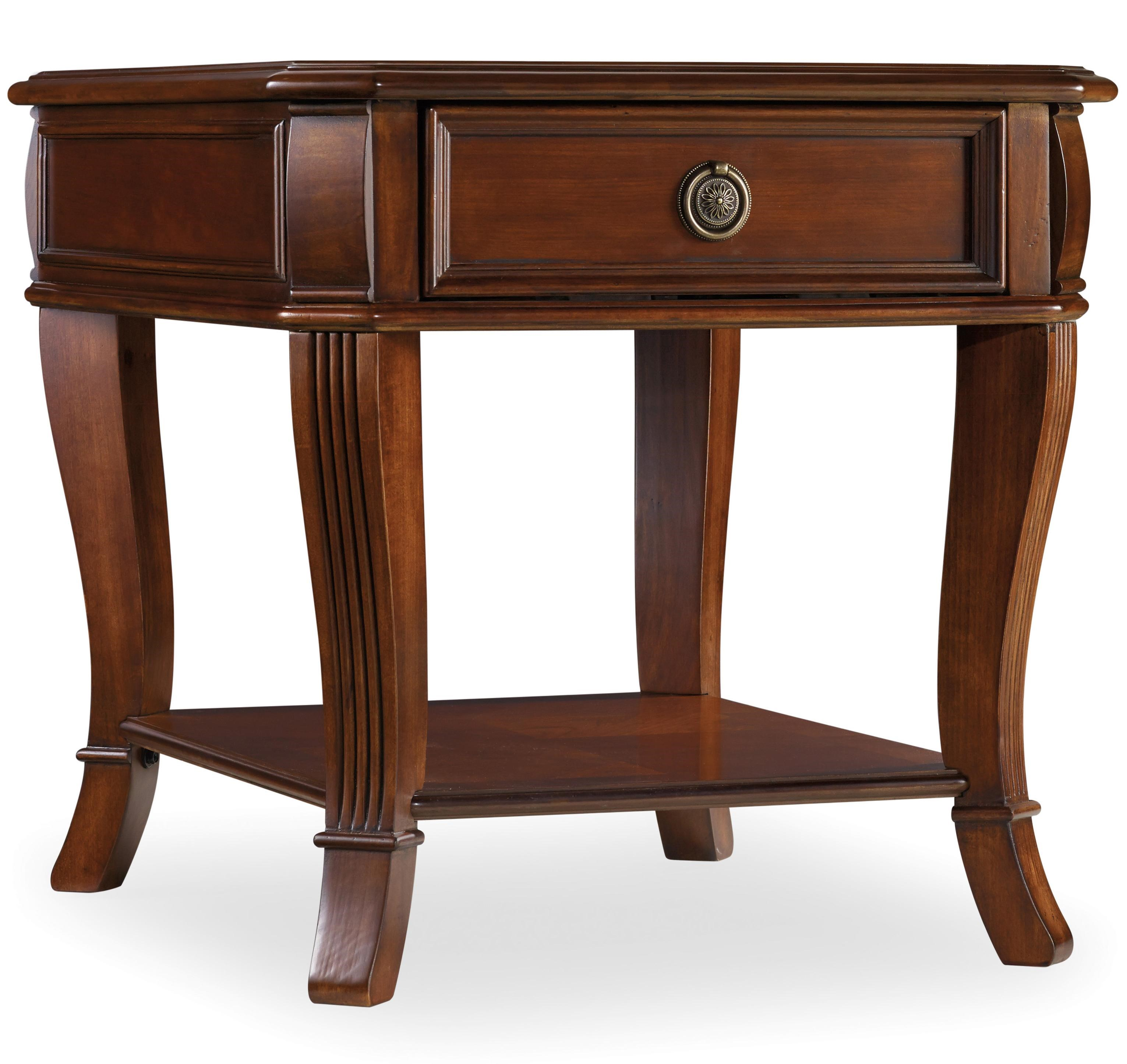 Hooker Furniture Brookhaven End Table With One Drawer
