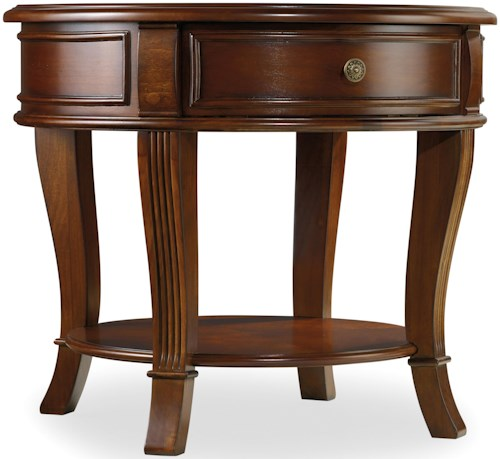 Hamilton Home Brookhaven Round End Table with One Drawer