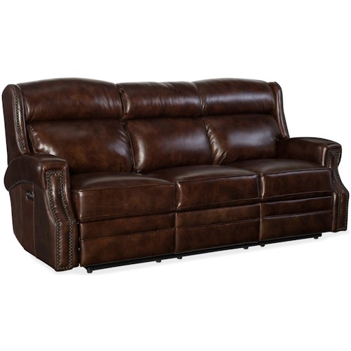 Hooker Furniture Carlisle Power Motion Sofa with Power Headrests