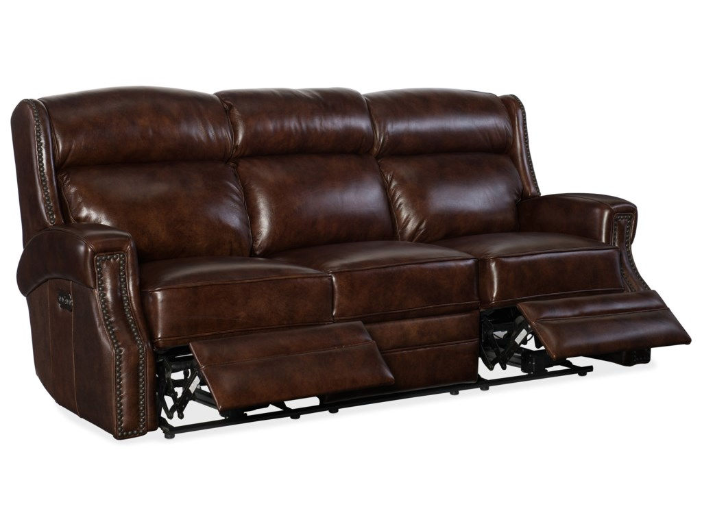 Hooker Furniture CarlislePower Motion Sofa with Power Headrest