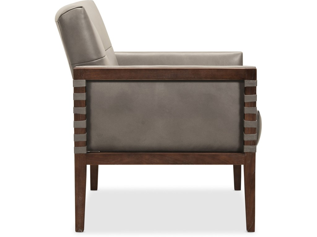 Hooker Furniture CarverdaleLeather Club Chair w/ Wood Frame