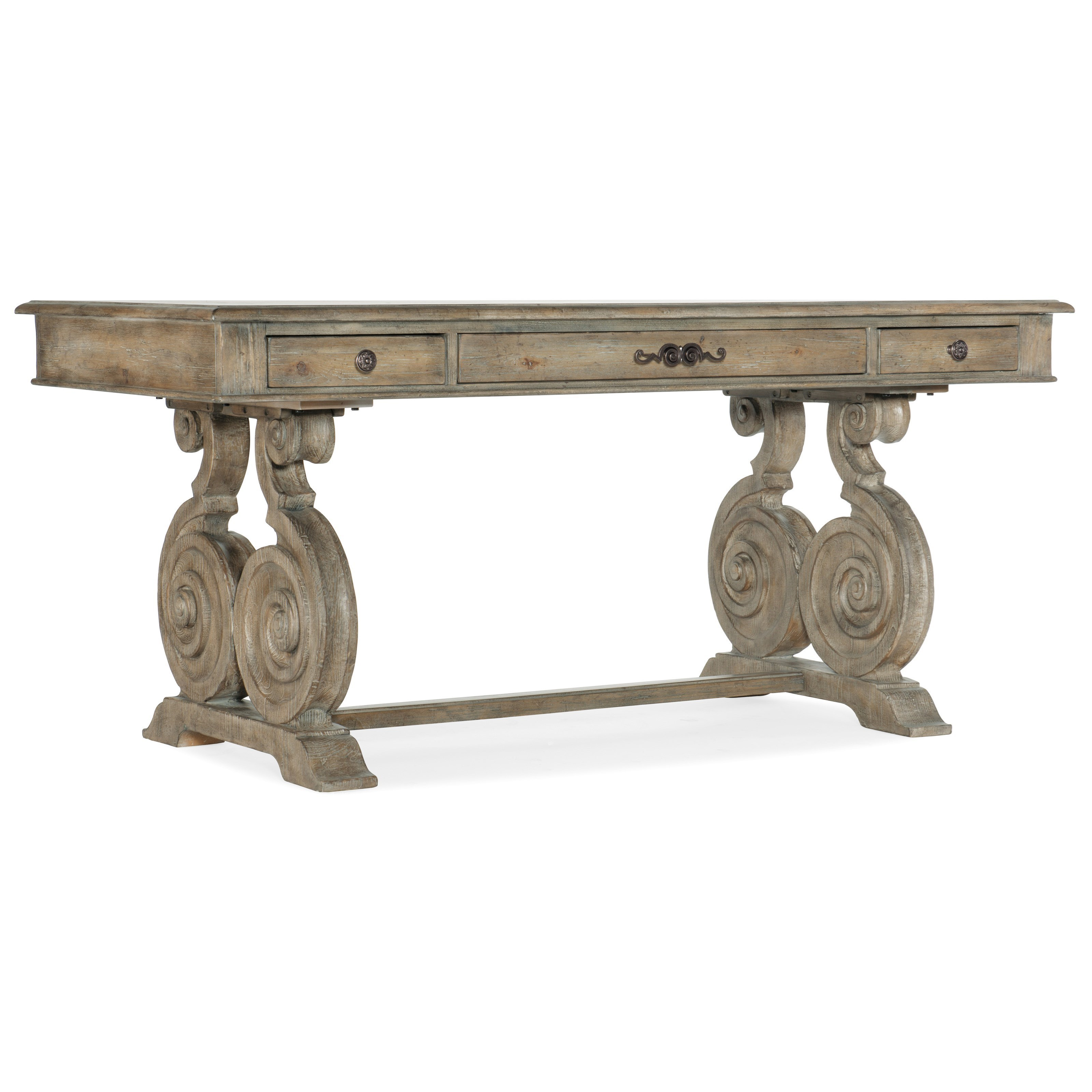 Traditional 3-Drawer Writing Desk