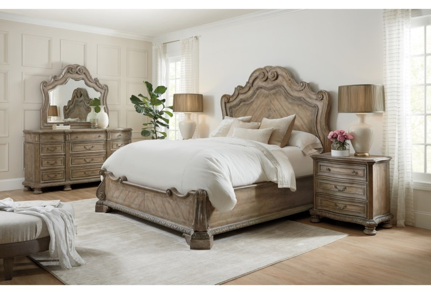 Hooker Furniture Castella Traditional King Panel Bed Wayside Furniture Platform Beds Low Profile Beds