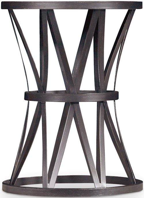 Hamilton Home Chadwick Round End Table with Metal X Pedestal
