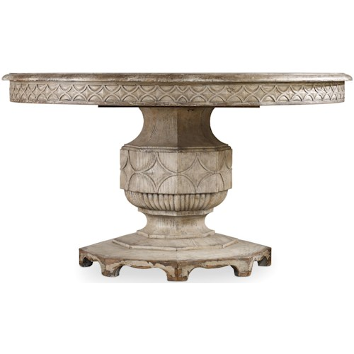 Hooker Furniture Chatelet Round Dining Table with Carved Apron