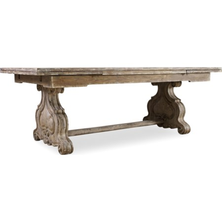 Refectory Rectangle Trestle Dining Table