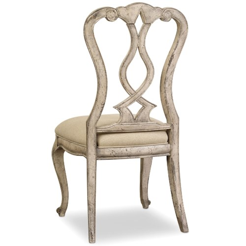 Hooker Furniture Chatelet Splatback Side Chair with Upholstered Seat