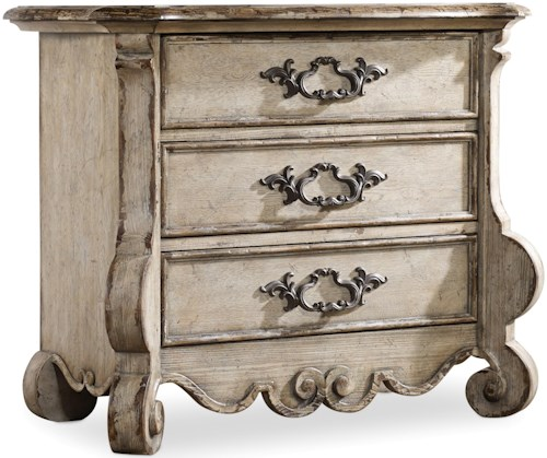 Hooker Furniture Chatelet Nightstand with 3 Drawers