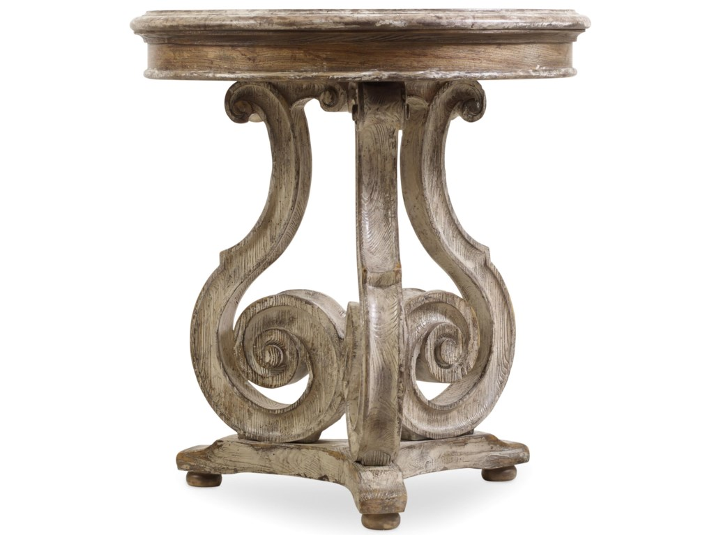 Hooker Furniture ChateletScroll Accent Table
