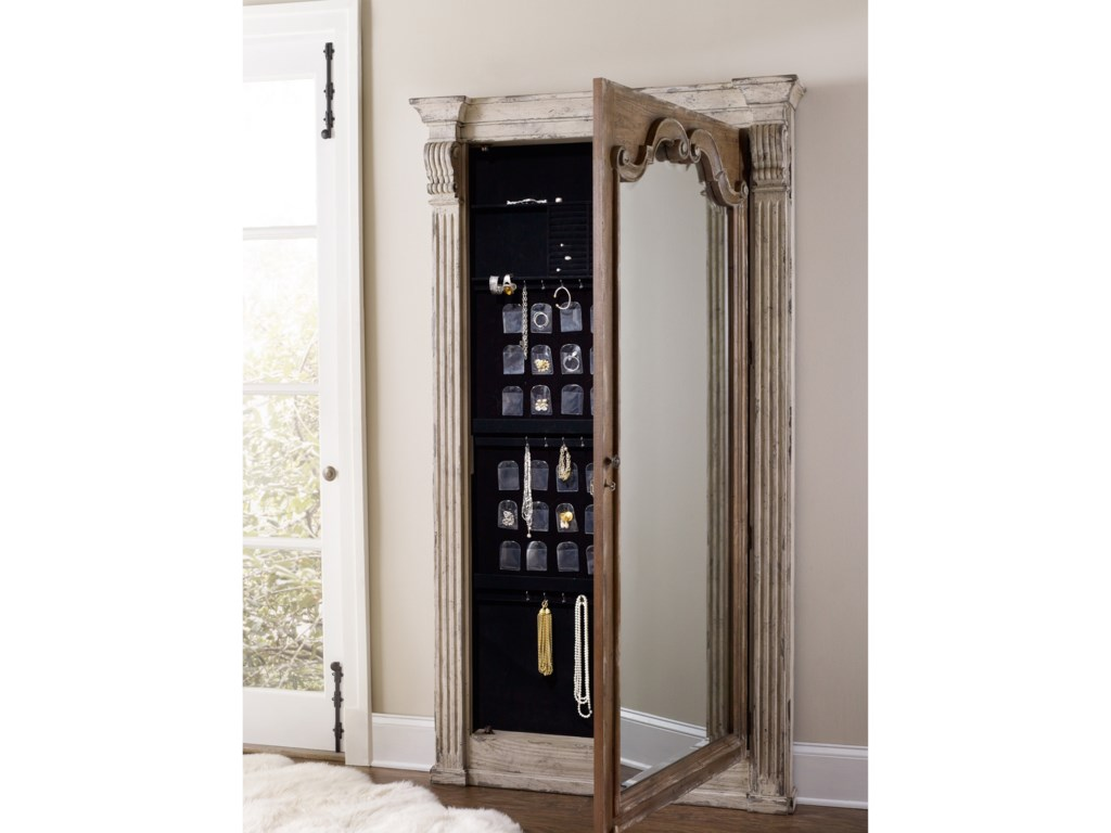 Hooker Furniture ChateletFloor Mirror with Jewelry Armoire Storage