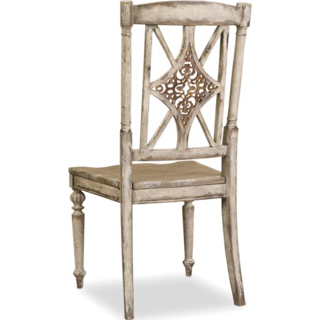 Fretback Side Chair with Turned Legs