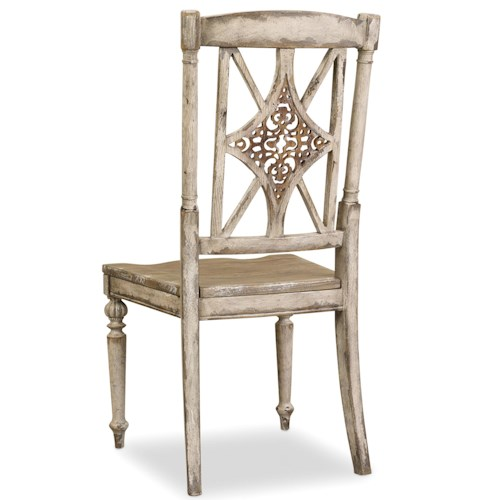 Hooker Furniture Chatelet Fretback Side Chair with Turned Legs