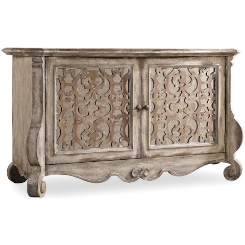 Hooker Furniture Chatelet Buffet with Fretwork Doors