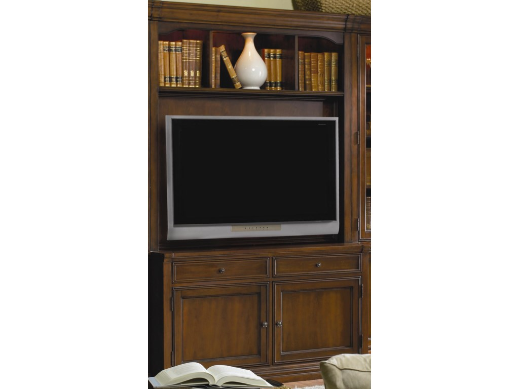 Hooker Furniture Cherry Creek Entertainment Console with Hutch