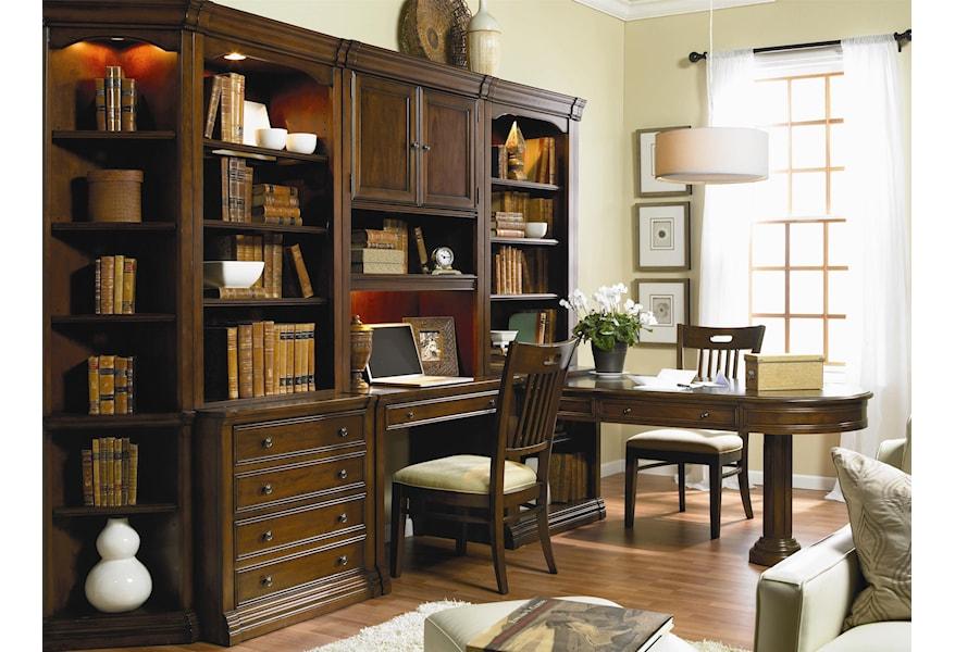 Hooker Furniture Cherry Creek 258 70 436 437 Wall Desk And Hutch Combo Dunk Bright Furniture Desk Hutch Sets