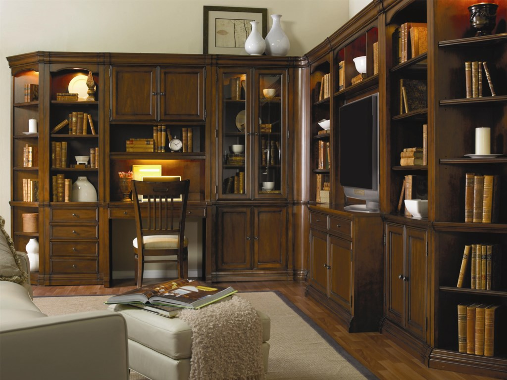 Shown with Wall Desk and Hutch, Curio Cabinet, Entertainment Console with Hutch, and 32 Inch Wall Cabinet