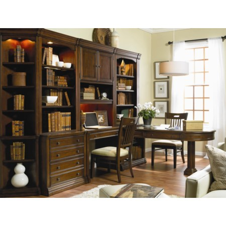 Wall Unit with Partner Desk