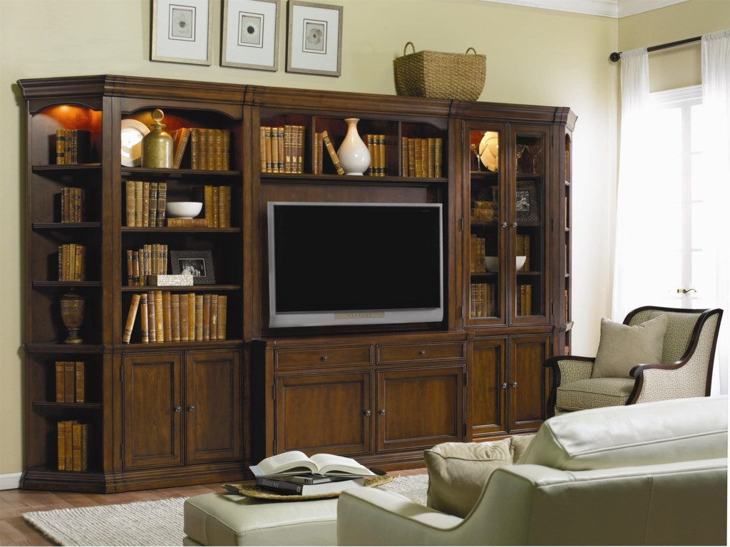 Furniture Cherry Creek Traditional Modular Wall System With Entertainment Unit