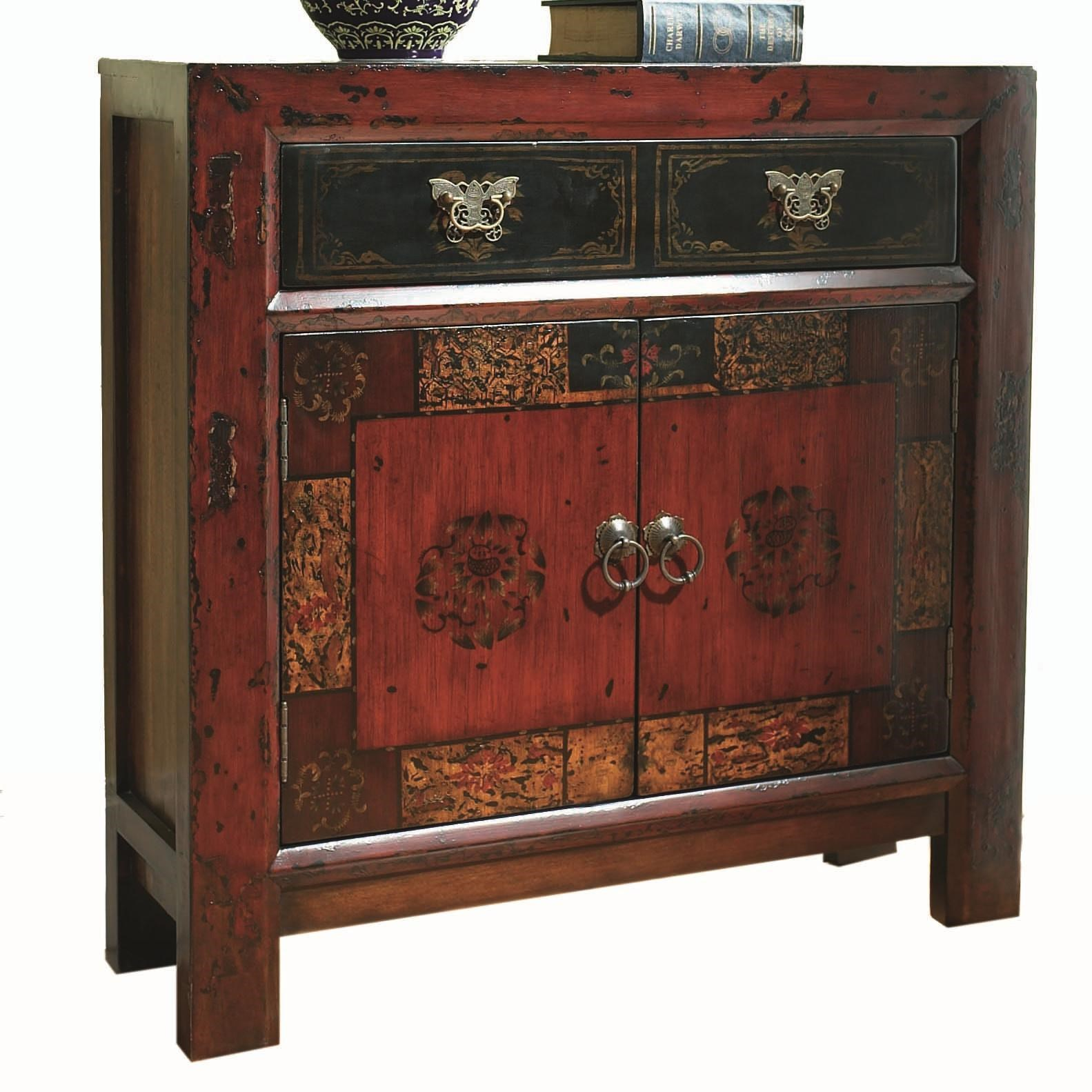 Hooker Furniture Chests And Consoles Asian Two Door, One Drawer Hall Chest    Belfort Furniture   Occasional Cabinet