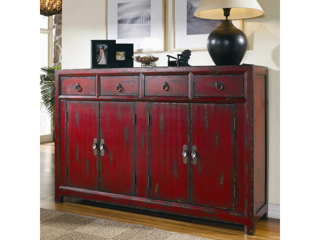 Hooker Furniture Chests And Consoles 500 50 711 Red Asian Cabinet