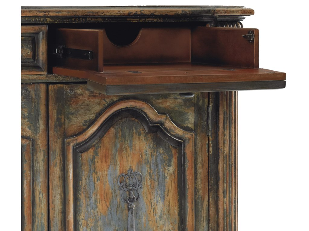 Drop-Front Drawers with Wire Management