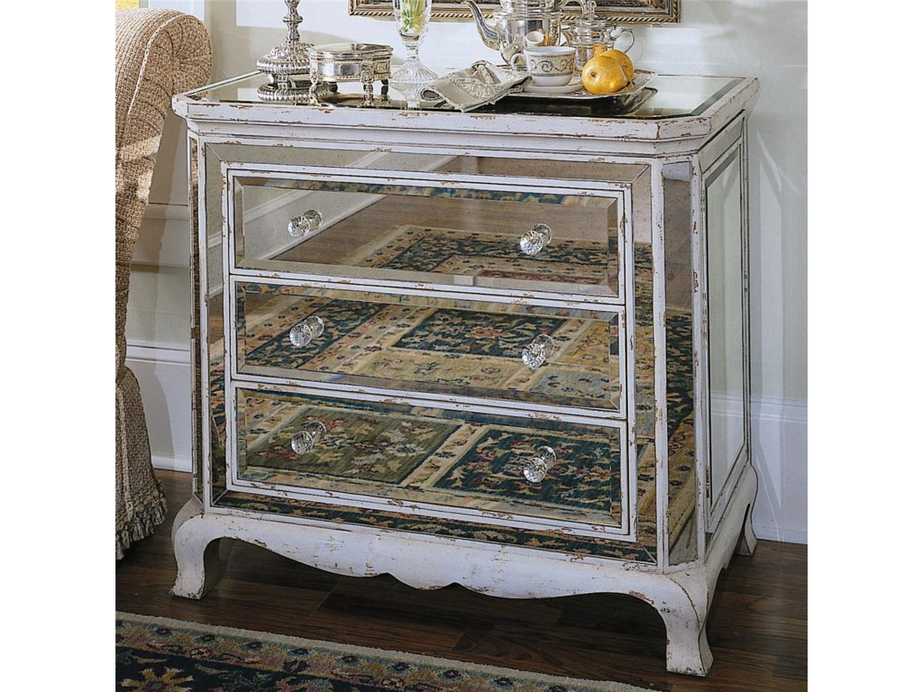 Hooker Furniture Chests and ConsolesThree Drawer French Mirror Chest